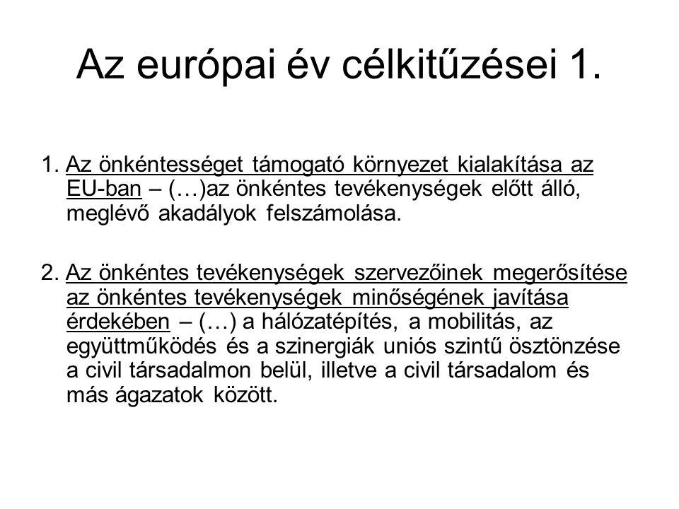 Az európai év célkitűzései 1.