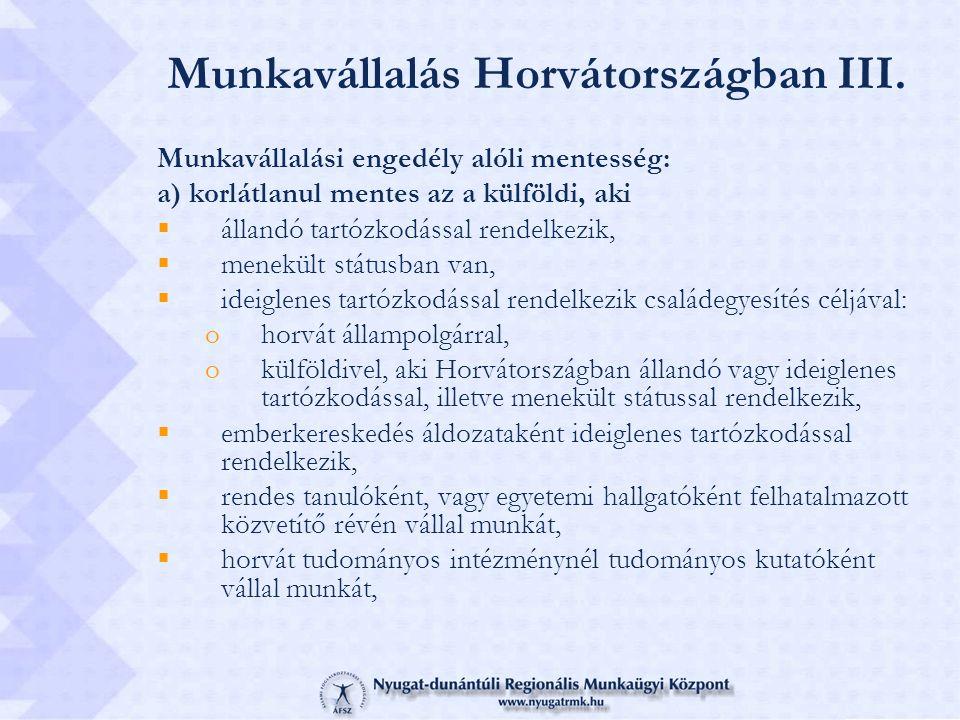 Munkavállalás Horvátországban III.