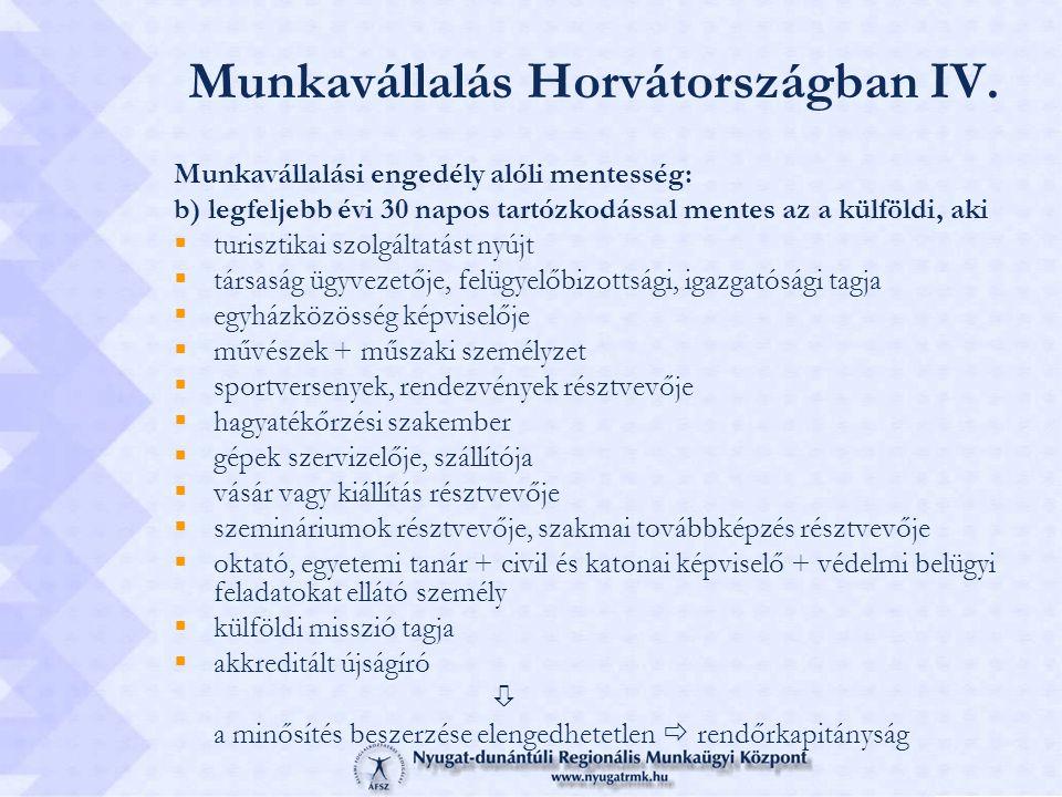 Munkavállalás Horvátországban IV.