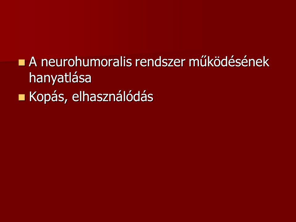 A neurohumoralis rendszer működésének hanyatlása