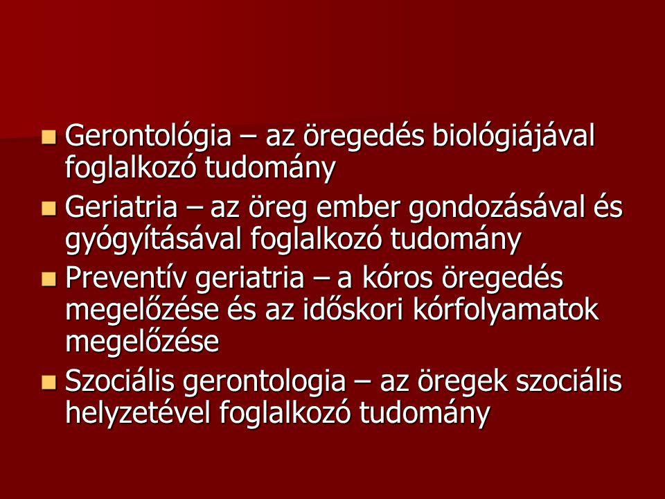 Gerontológia – az öregedés biológiájával foglalkozó tudomány