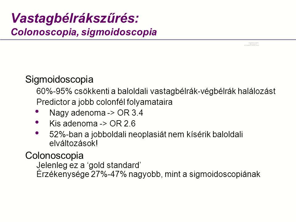 Vastagbélrákszűrés: Colonoscopia, sigmoidoscopia