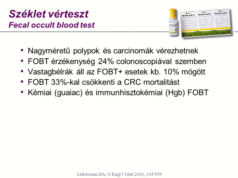 Széklet vérteszt Fecal occult blood test