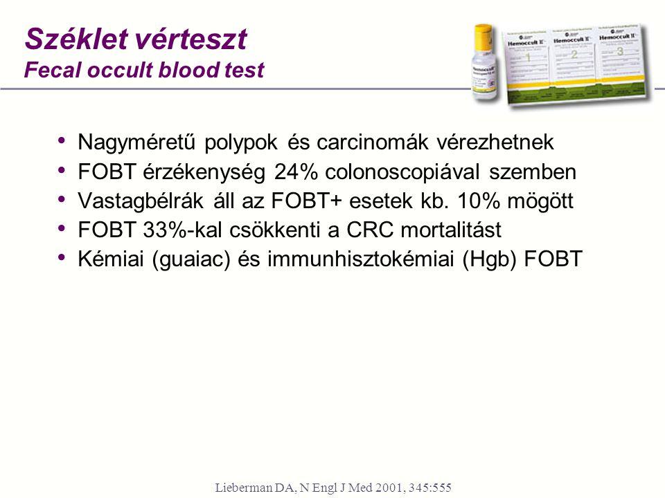 Széklet vérteszt Fecal occult blood test
