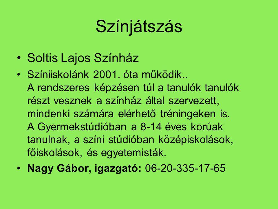 Színjátszás Soltis Lajos Színház