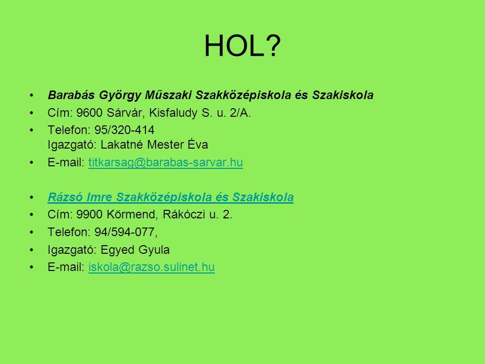 HOL Barabás György Műszaki Szakközépiskola és Szakiskola