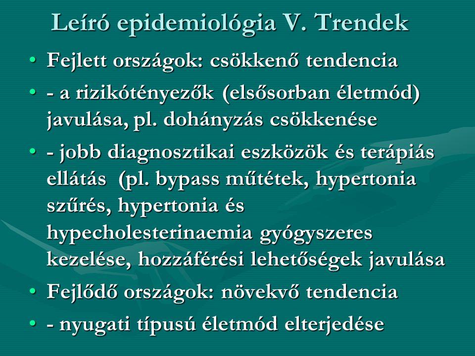 Leíró epidemiológia V. Trendek
