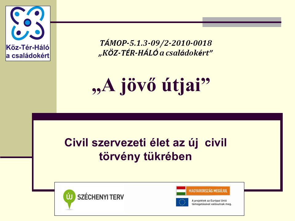 Civil szervezeti élet az új civil törvény tükrében