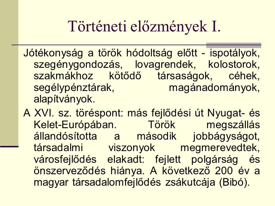 Történeti előzmények I.