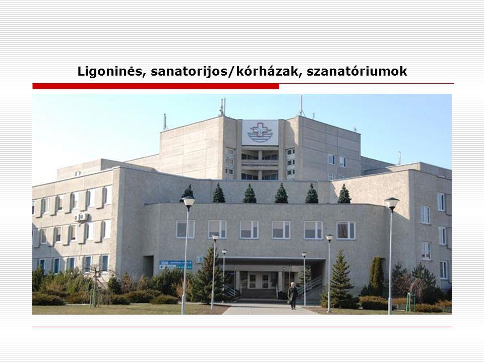Ligoninės, sanatorijos/kórházak, szanatóriumok