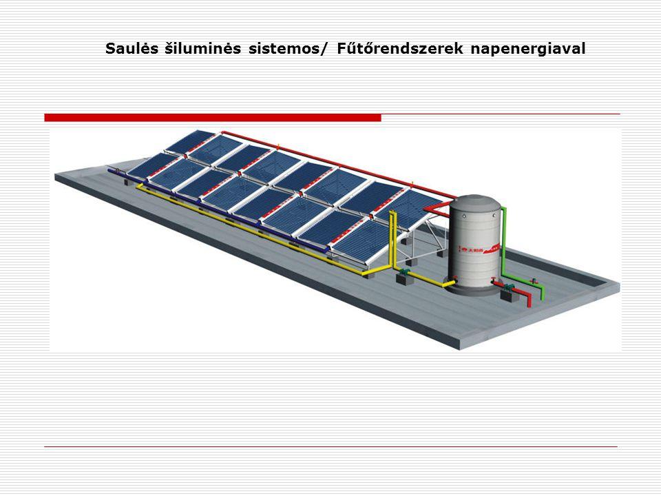Saulės šiluminės sistemos/ Fűtőrendszerek napenergiaval
