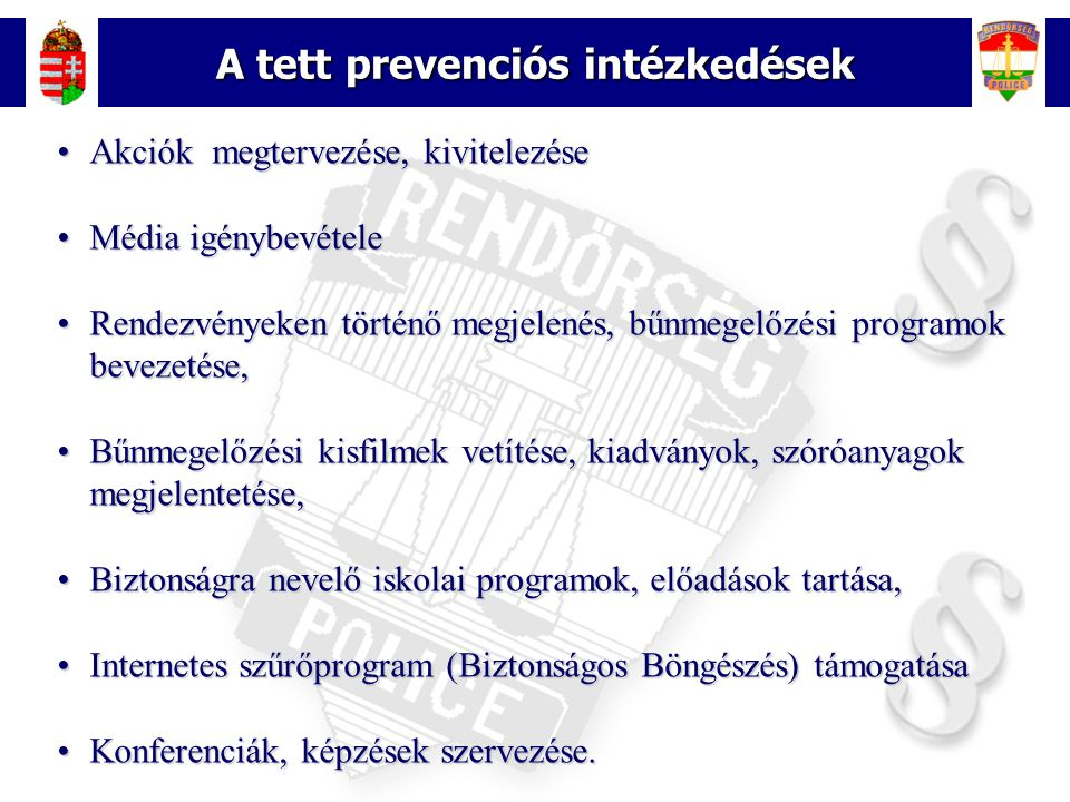 A tett prevenciós intézkedések