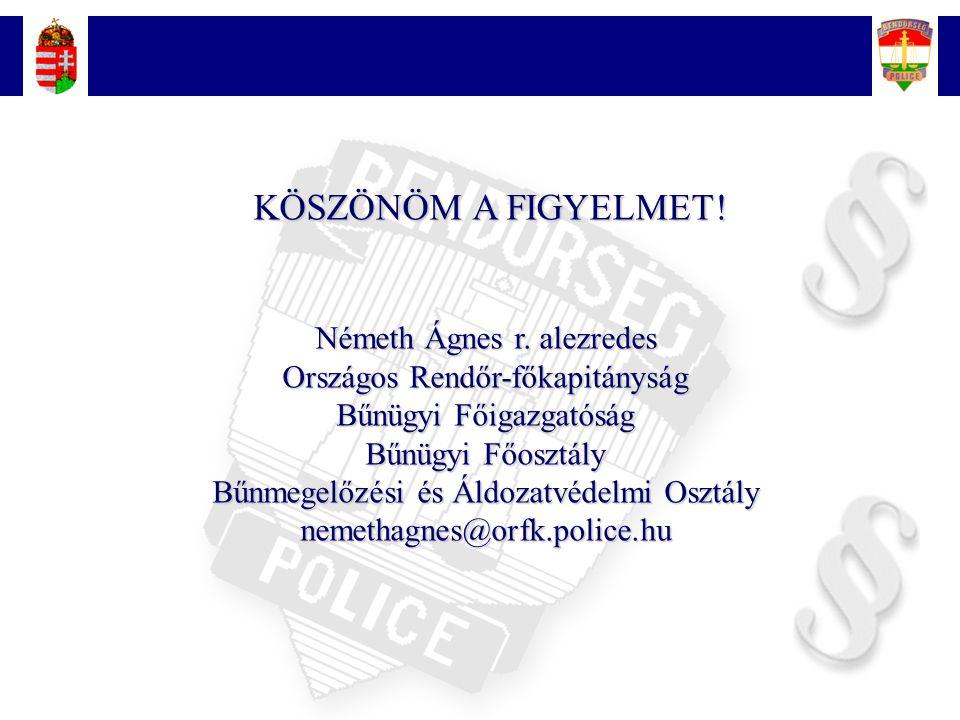 Németh Ágnes r. alezredes Országos Rendőr-főkapitányság