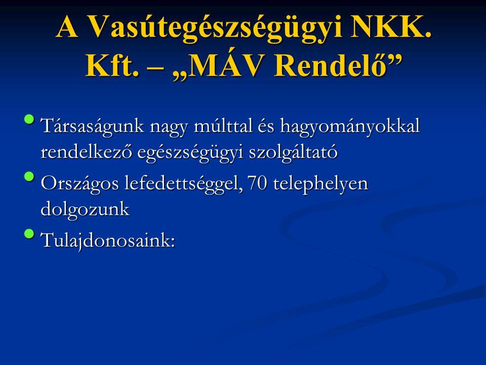 """A Vasútegészségügyi NKK. Kft. – """"MÁV Rendelő"""