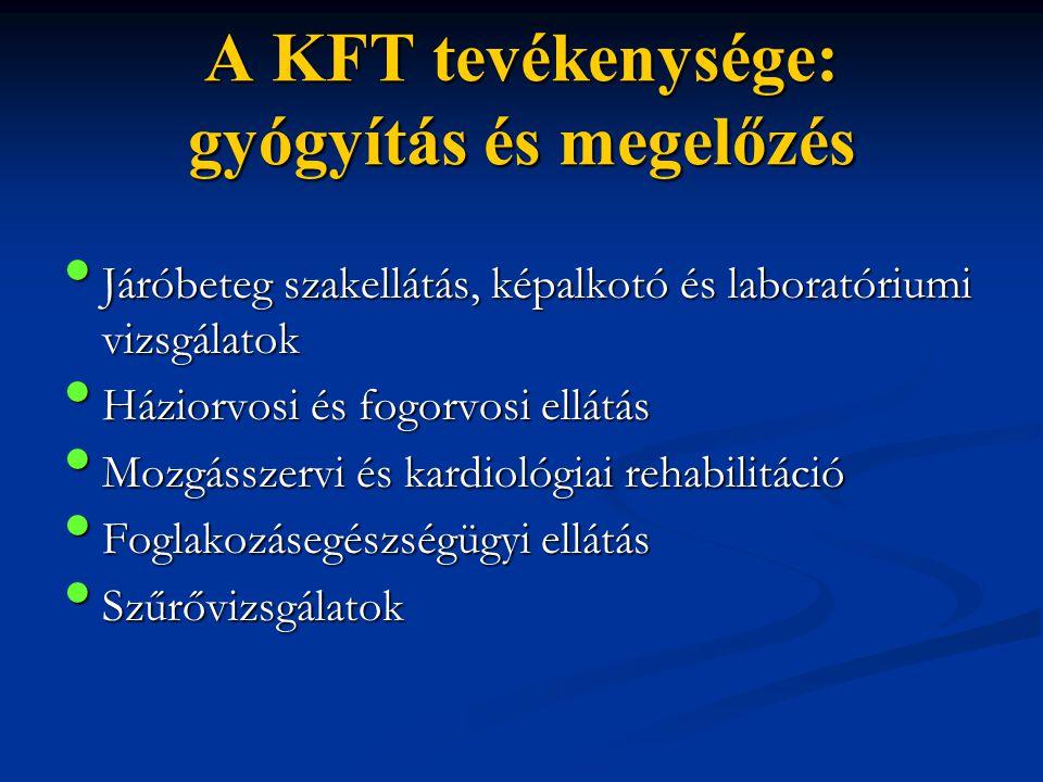 A KFT tevékenysége: gyógyítás és megelőzés