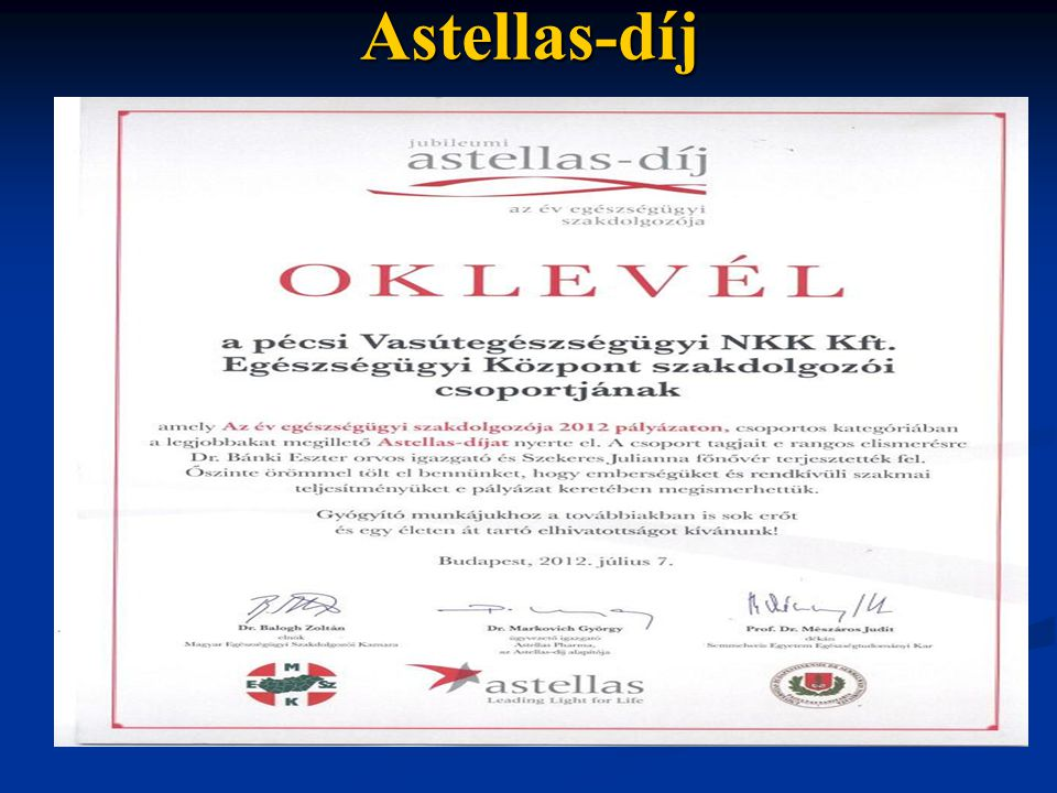 Astellas-díj