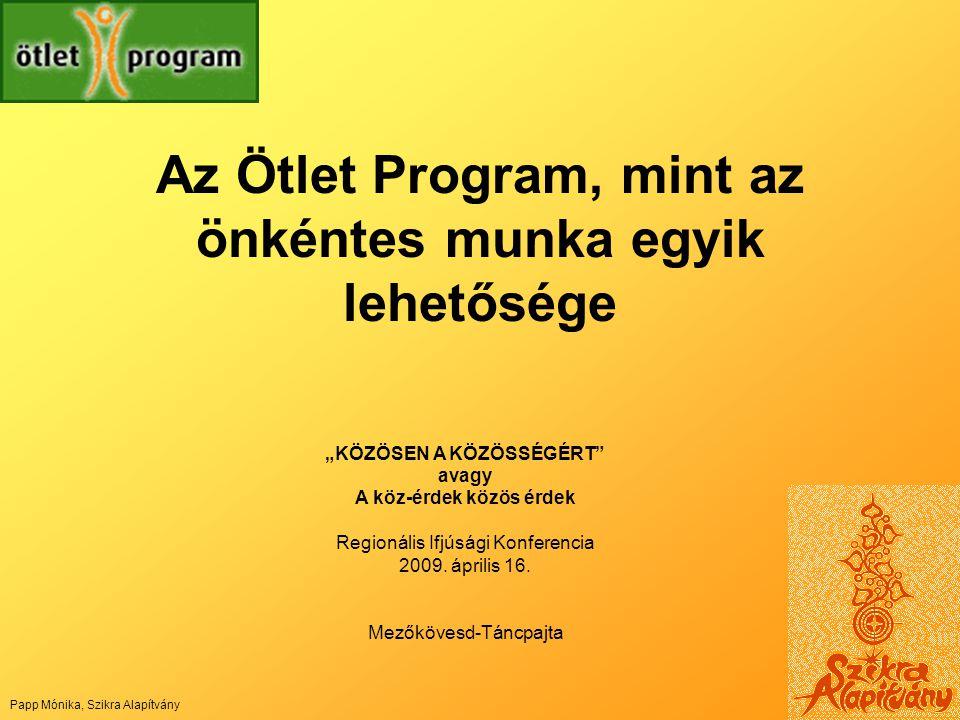 Az Ötlet Program, mint az önkéntes munka egyik lehetősége