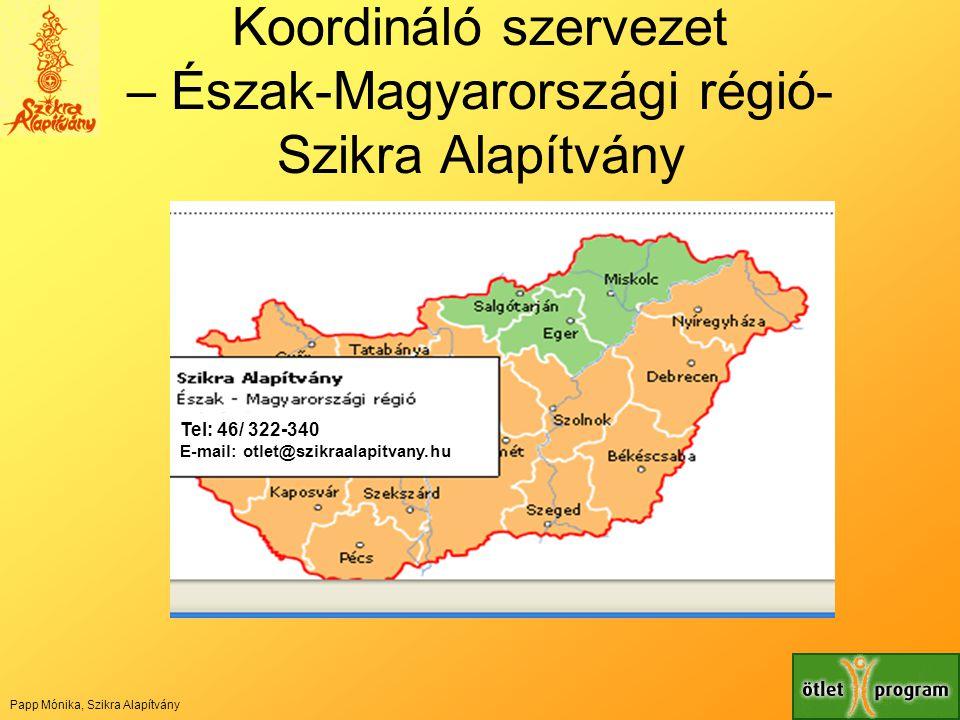 Koordináló szervezet – Észak-Magyarországi régió- Szikra Alapítvány