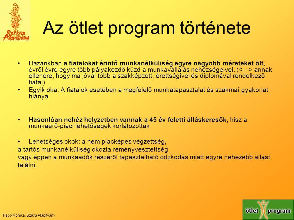 Az ötlet program története
