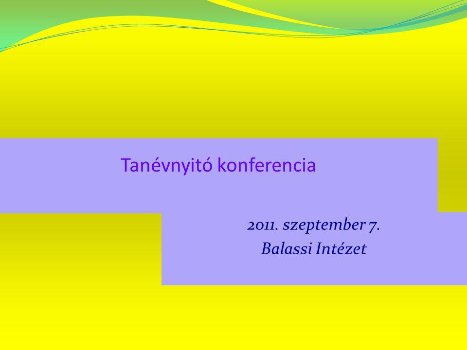 Tanévnyitó konferencia