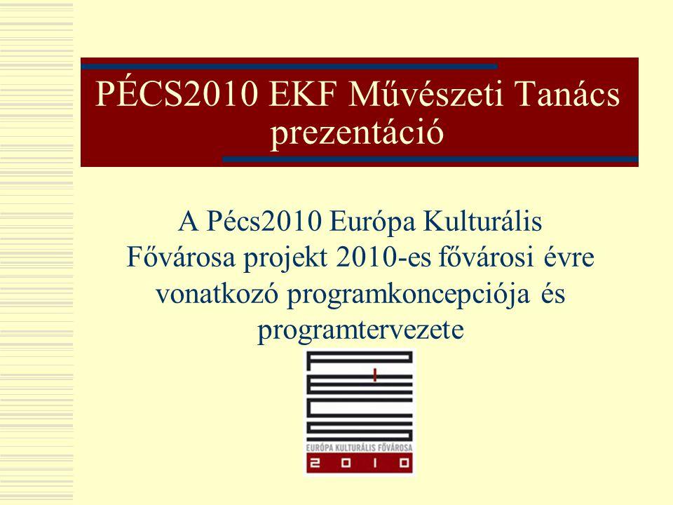 PÉCS2010 EKF Művészeti Tanács prezentáció