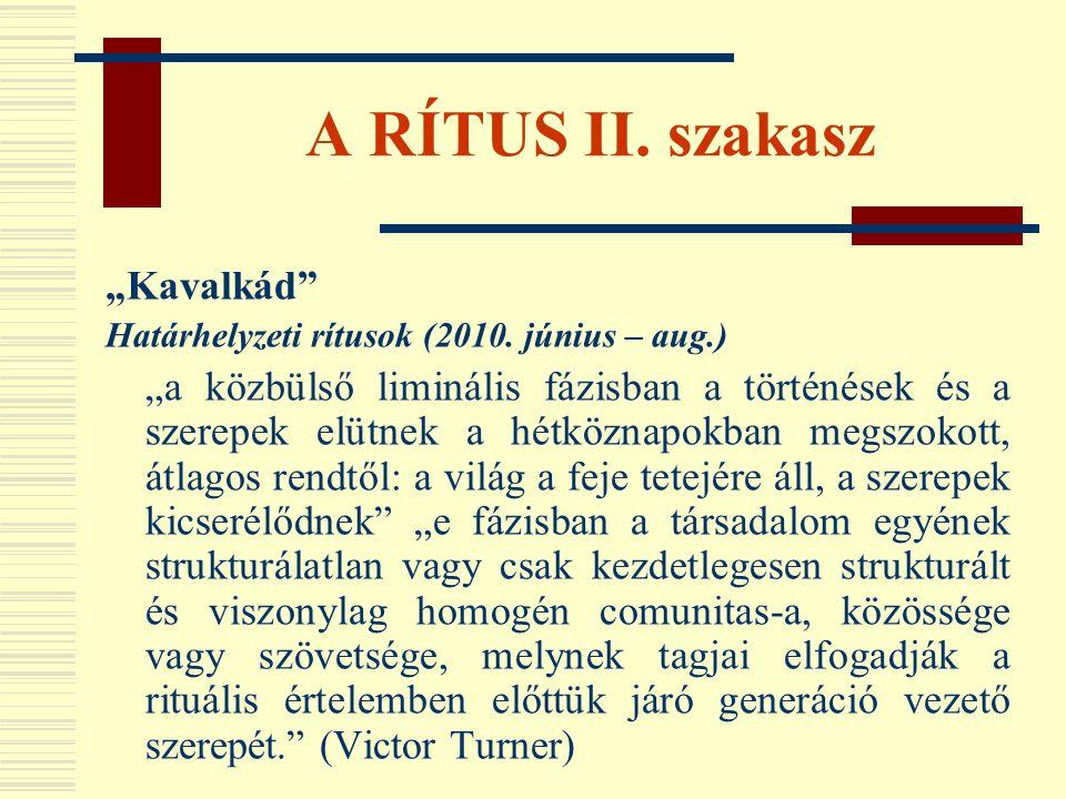 """A RÍTUS II. szakasz """"Kavalkád"""