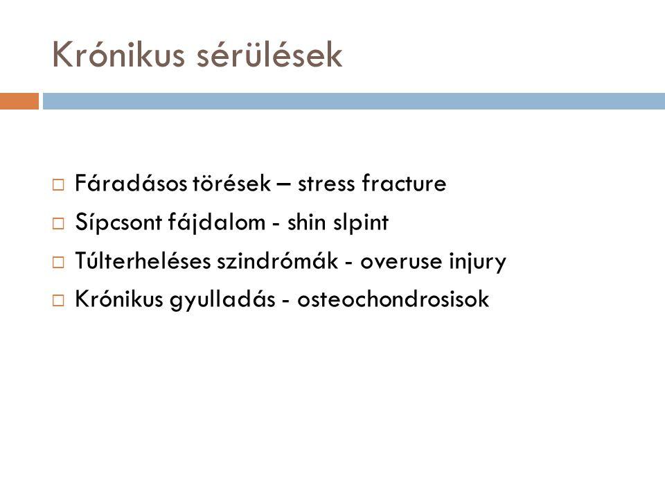 Krónikus sérülések Fáradásos törések – stress fracture