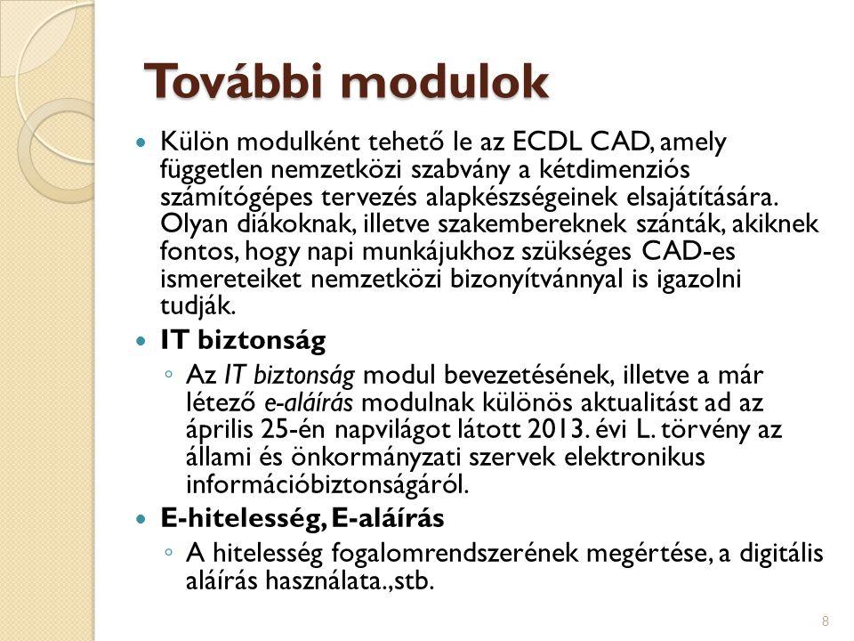 További modulok