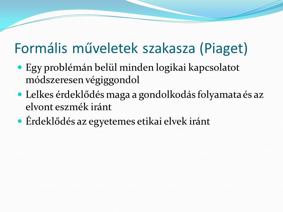 Formális műveletek szakasza (Piaget)
