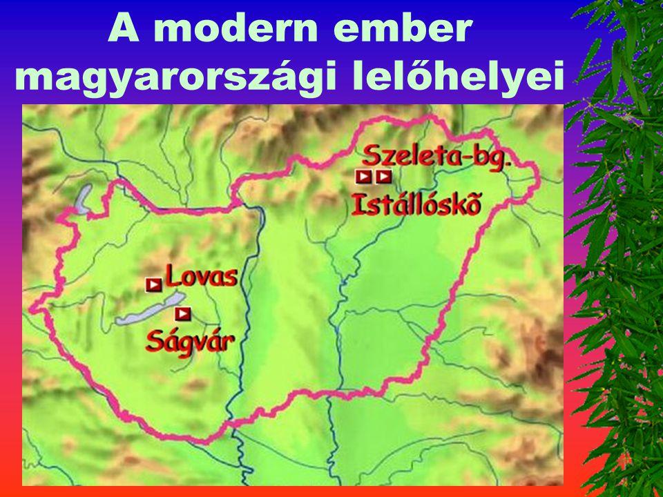 A modern ember magyarországi lelőhelyei