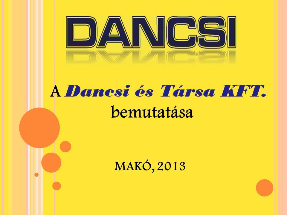 A Dancsi és Társa KFT. bemutatása