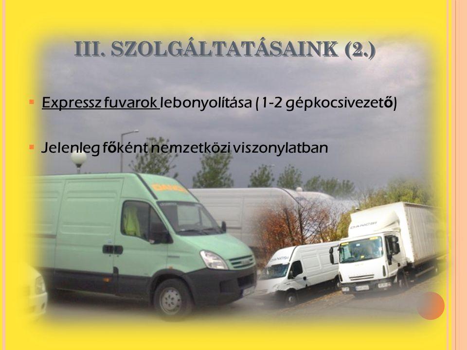 III. SZOLGÁLTATÁSAINK (2.)