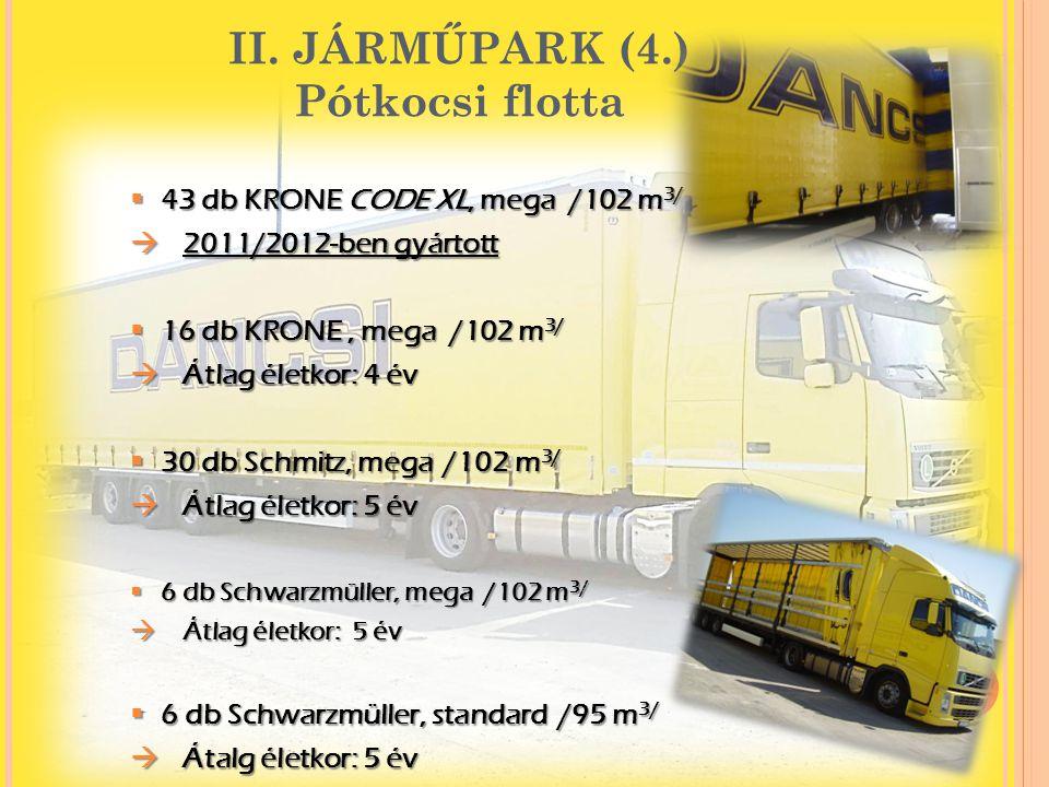 II. JÁRMŰPARK (4.) Pótkocsi flotta