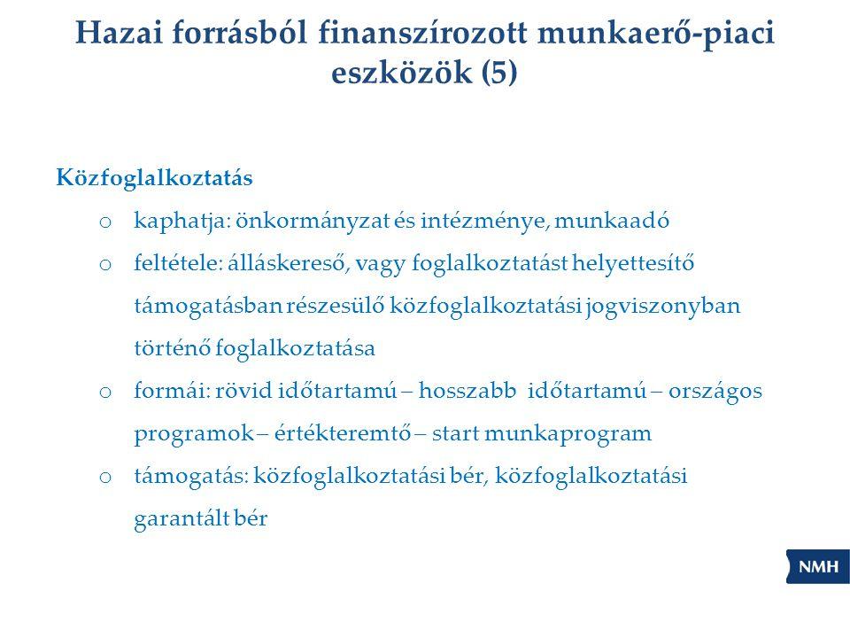 Hazai forrásból finanszírozott munkaerő-piaci eszközök (5)