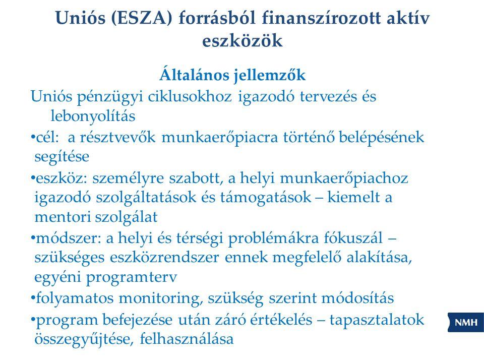 Uniós (ESZA) forrásból finanszírozott aktív eszközök