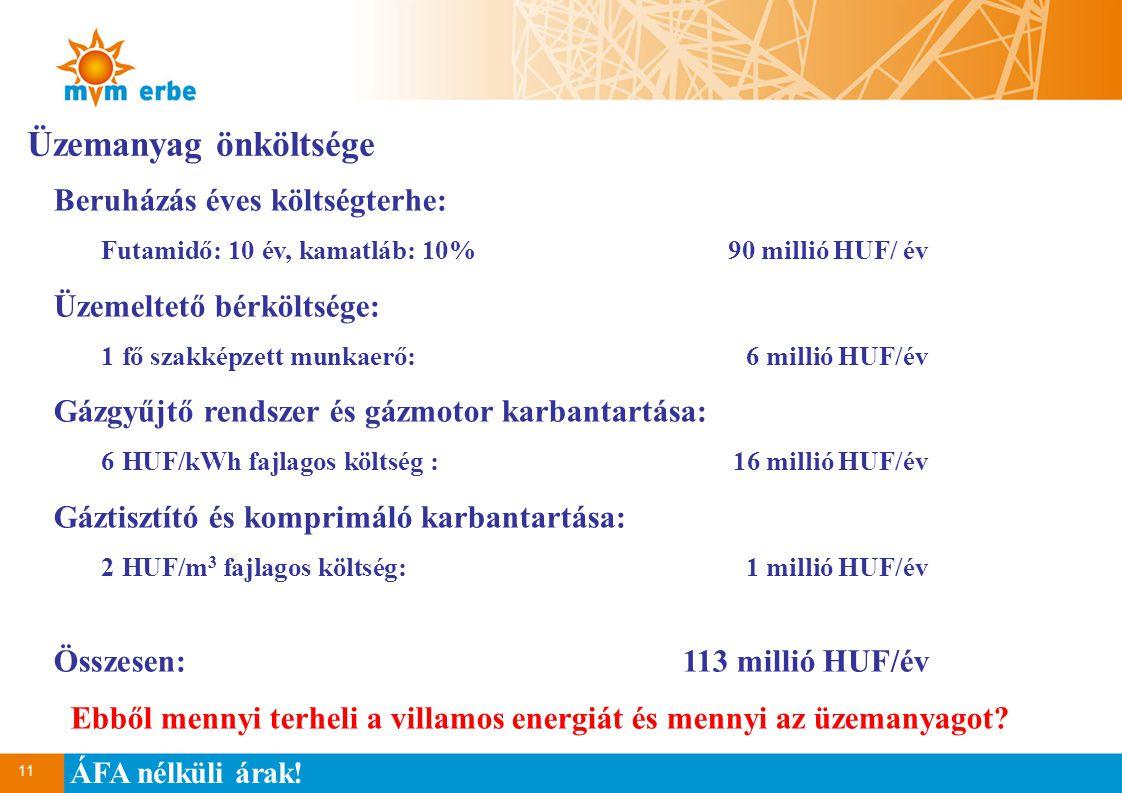 Ebből mennyi terheli a villamos energiát és mennyi az üzemanyagot
