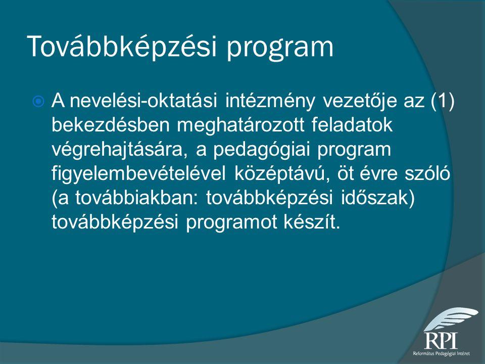 Továbbképzési program