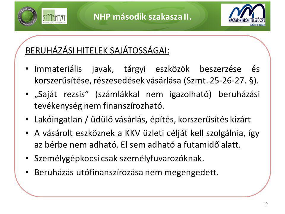 NHP második szakasza II.