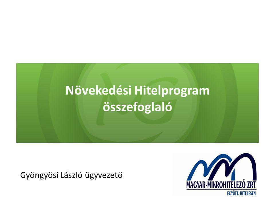 Növekedési Hitelprogram összefoglaló