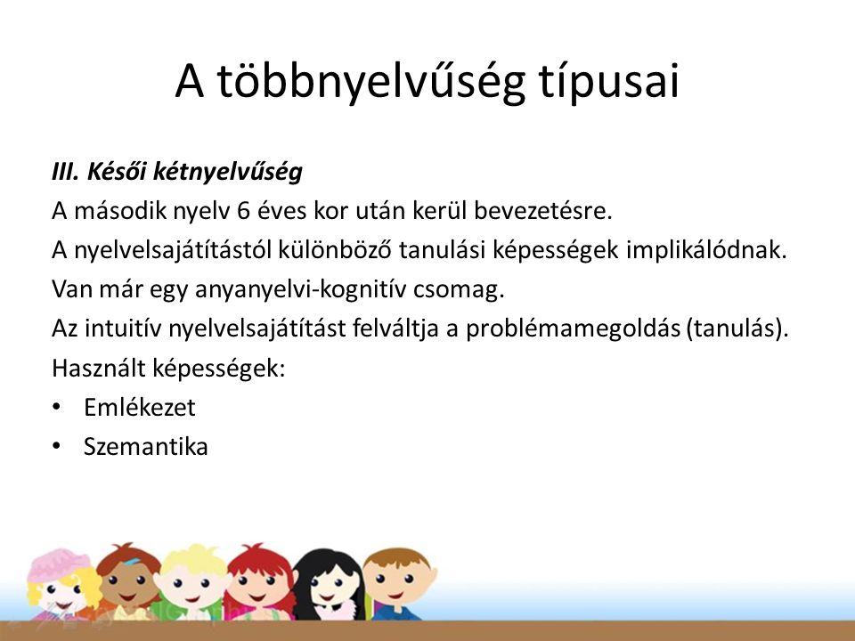 A többnyelvűség típusai