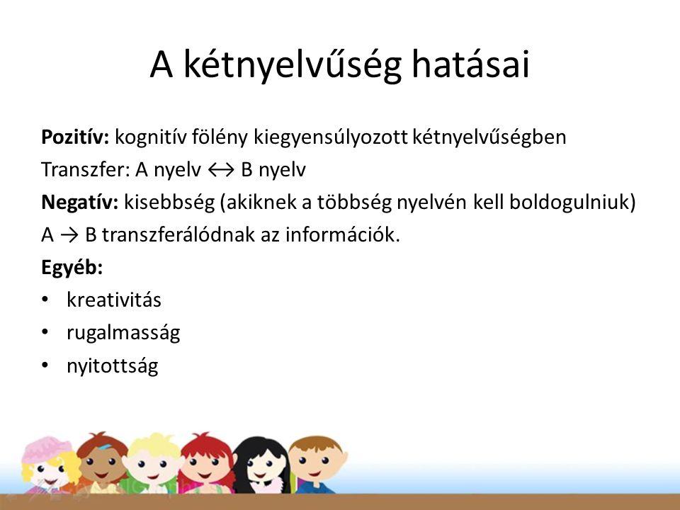 A kétnyelvűség hatásai