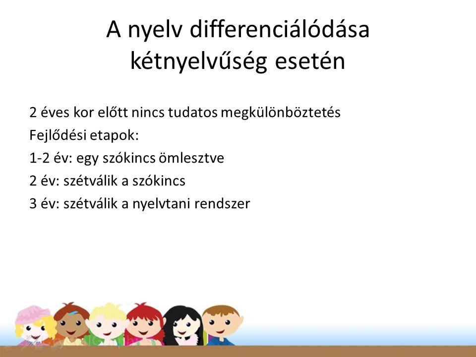 A nyelv differenciálódása kétnyelvűség esetén