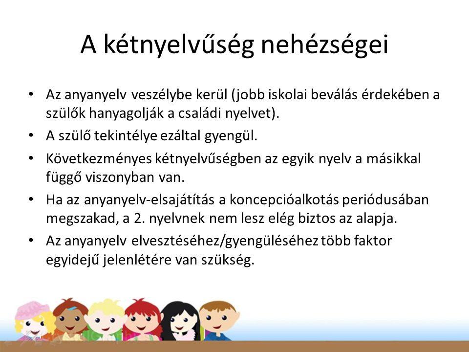 A kétnyelvűség nehézségei