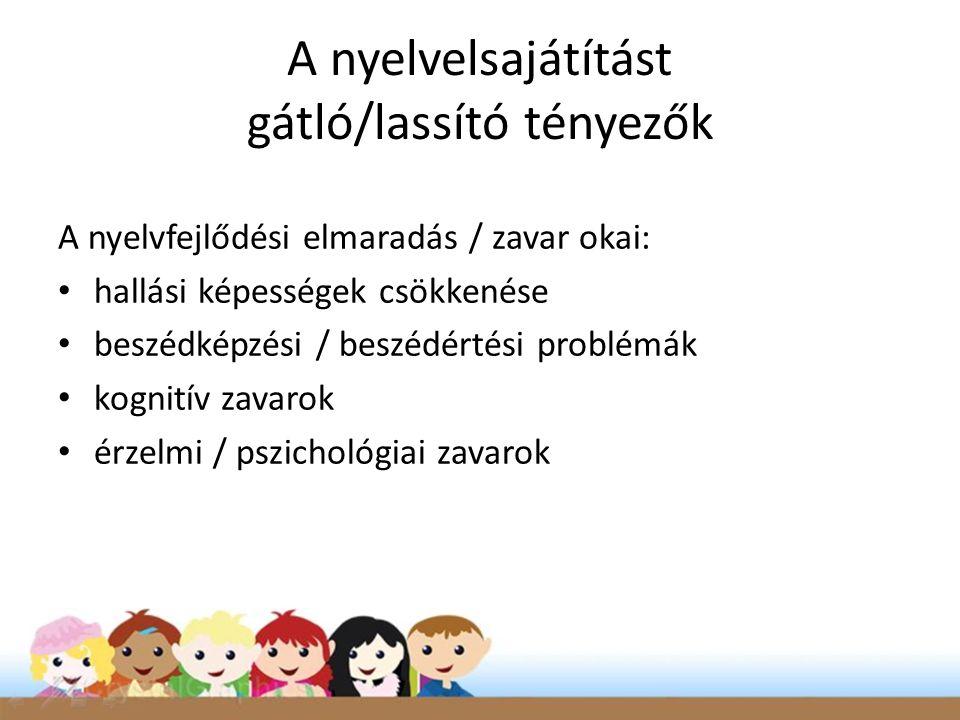A nyelvelsajátítást gátló/lassító tényezők