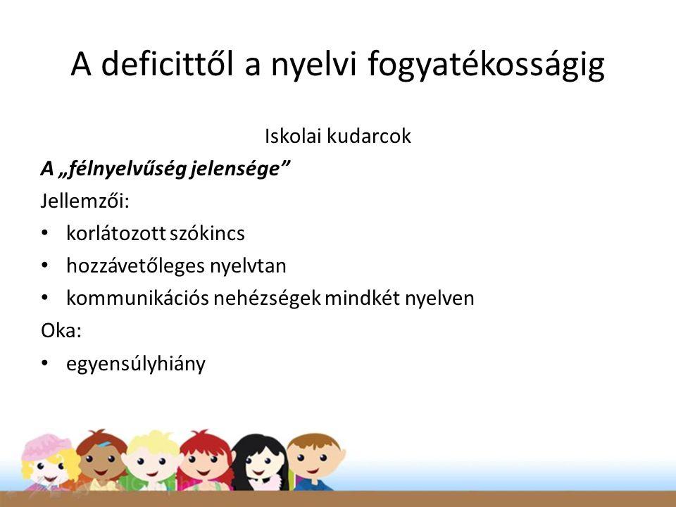 A deficittől a nyelvi fogyatékosságig