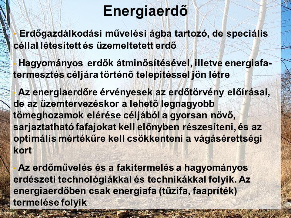 Energiaerdő Erdőgazdálkodási művelési ágba tartozó, de speciális céllal létesített és üzemeltetett erdő.