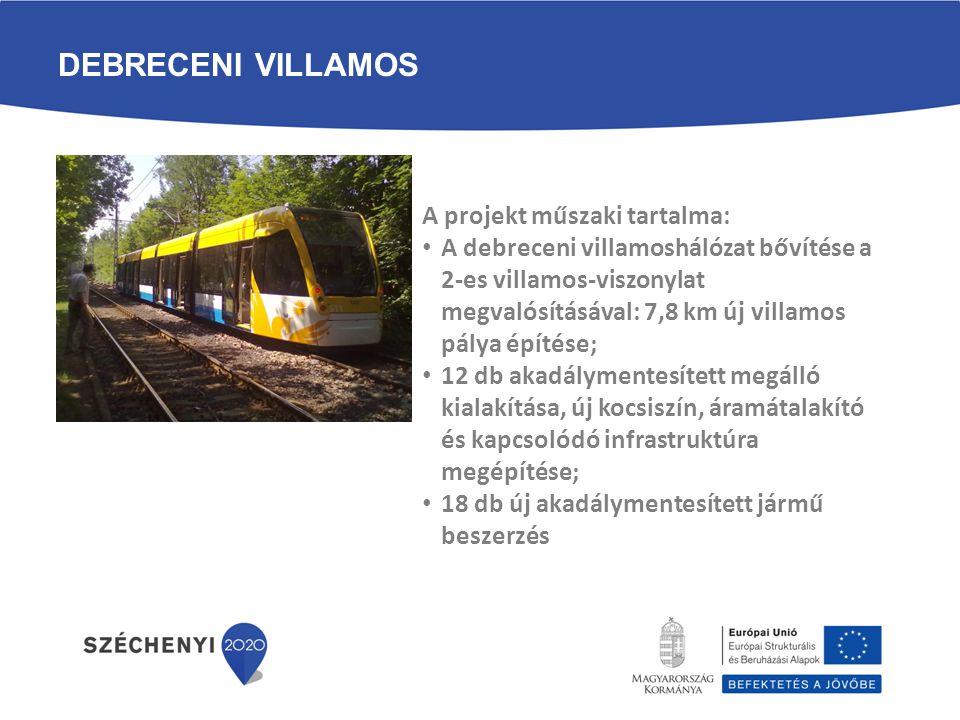 Debreceni Villamos A projekt műszaki tartalma: