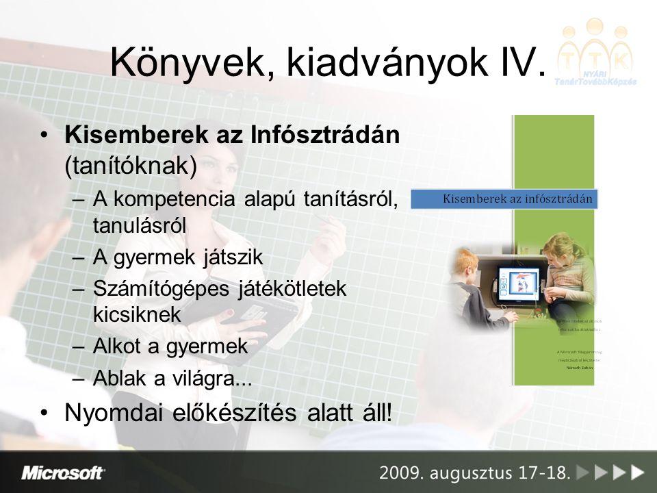 Könyvek, kiadványok IV. Kisemberek az Infósztrádán (tanítóknak)