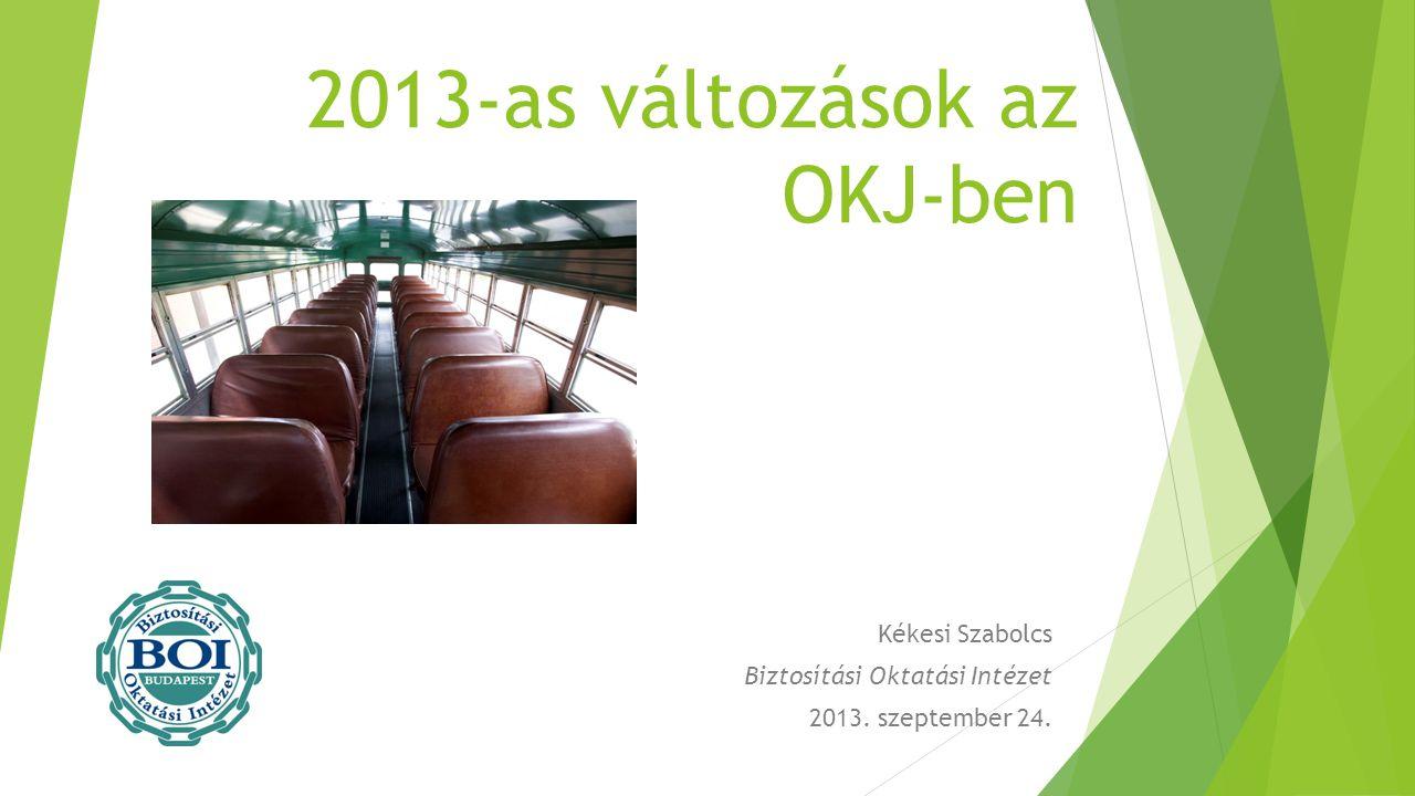 2013-as változások az OKJ-ben