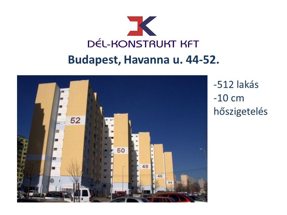 Budapest, Havanna u. 44-52. 512 lakás 10 cm hőszigetelés